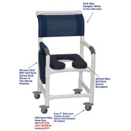 "MJM International - Shower Chair 18"" - # 118-3TL-SSDD-AB-DKBL-DM"