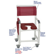 "MJM International - Shower Chair 18"" - # 118-3TL-SSDD-BG-MRN-DM"