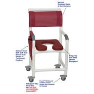 "MJM International - Shower Chair 18"" - # 118-3TL-SSDD-BG-MRN-DM"
