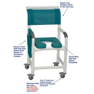 "MJM International - Shower Chair 18"" - # 118-3TL-SSDD-OB-MYNTL-DM"