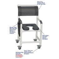 "MJM International - Shower Chair 18"" - # 118-3TL-SSDD-PI-NJGRY-DM"