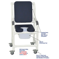 "MJM International - Shower Chair 18"" - # 118-3TL-SSDE-CBP-SQ-PAIL-AB"
