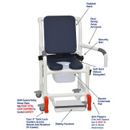 "MJM International - Shower Chair 18"" - # 118-3TL-SSDE-CBP-AB-DDA-SF-SQ-PAIL-BB-AT"