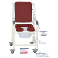 "MJM International - Shower Chair 18"" - # 118-3TL-SSDE-CBP-SQ-PAIL-BG"