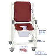 "MJM International - Shower Chair 18"" - # 118-3TL-SSDE-CBP-SQ-PAIL-BG"