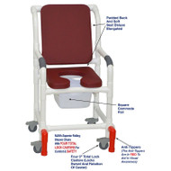 "MJM International - Shower Chair 18"" - # 118-3TL-SSDE-CBP-BG-SQ-PAIL-AT"