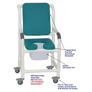 "MJM International - Shower Chair 18"" - # 118-3TL-SSDE-CBP-SQ-PAIL-OB"