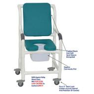 "MJM International - Shower Chair 18"" - # 118-3TL-SSDE-CBP-SQ-PAIL-OB"