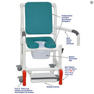 "MJM International - Shower Chair 18"" - # 118-3TL-SSDE-CBP-OB-DDA-SF-SQ-PAIL-AT"