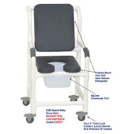 "MJM International - Shower Chair 18"" - # 118-3TL-SSDE-CBP-SQ-PAIL-PI"