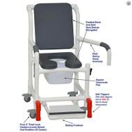 "MJM International - Shower Chair 18"" - # 118-3TL-SSDE-CBP-PI-DDA-SF-SQ-PAIL-AT"