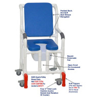 "MJM International - Shower Chair 18"" - # 118-3TL-SSDE-CBP-BL-OF-SQ-PAIL-AT"