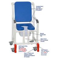 "MJM International - Shower Chair 18"" - # 118-3TL-SSDE-CBP-BL-OF-SQ-PAIL-AT"