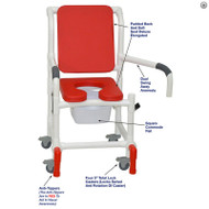 "MJM International - Shower Chair 18"" - # 118-3TL-SSDE-CBP-RD-DDA-SQ-PAIL-AT"