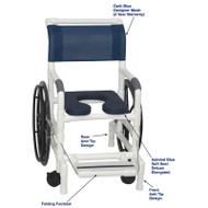 "MJM International - Self-Propelled Aquatic/Rehab Chair 18"" - # 131-18-24W-AB-DKBL-DM"
