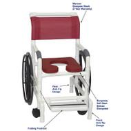 "MJM International - Self-Propelled Aquatic/Rehab Chair 18"" - # 131-18-24W-BG-MRN-DM"