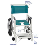"MJM International - Self-Propelled Aquatic/Rehab Chair 18"" - # 131-18-24W-OB-MYNTL-DM"