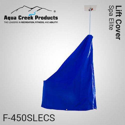 Aqua Creek - Cover for Spa Elite- Works w/Solar Charger - Premium Fade Resistant Blue