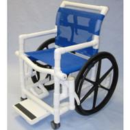 "Aqua Creek - Pool Access Chair, 18"" PVC w/Mesh Seat & Slide out Footrest, 300 lb Cap - F-520SPM"