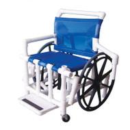 "Aqua Creek - Pool Access Chair, 24"" PVC w/Mesh Seat & Slide out Footrest, 400 lb Cap - F-520XWSPM"