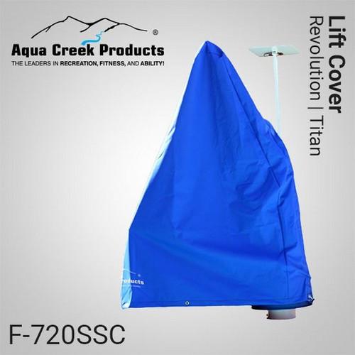 Aqua Creek - Cover for Revolution & Titan Lifts - Works w Solar Charger Premium Fade Resistant Blue - Made per Order