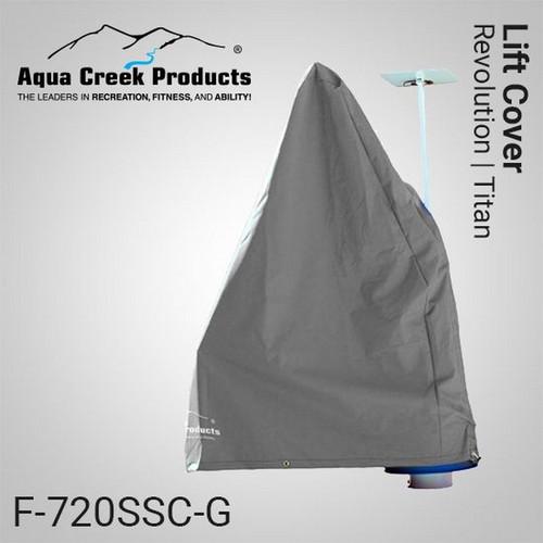 Aqua Creek - Cover for Revolution & Titan Lifts - Lifts w Solar Charger - GRAY