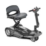 EV Rider - TranSport AF Plus S19AF Auto Fold Mobility Scooter - Metallic Silver