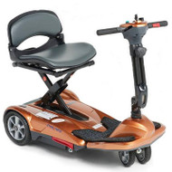 EV Rider - TranSport S19M Manual Fold Mobility Scooter w Lithium Battery - Penny Copper