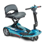 EV Rider - TranSport S19M Manual Fold Mobility Scooter w Lithium Battery - Sea Blue
