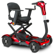 EV Rider - Teqno S26 Transportable/Foldable Mobility Scooter - Red - Armrests not included