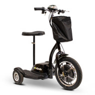 E-Wheels - EW-18 Stand-N-Ride Mobility Scooter - Black