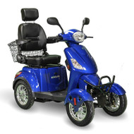 E-Wheels - EW-46 B - Four Wheel Scooter - Blue