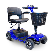 E-Wheels - EW-M34B Foldable Four Wheel Medical Mobility Scooter - BLUE