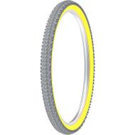 Kenda - HP/Sports/Court Games Wheelchair Tires K885 - KOBRA 24x2 - Pair  YELLOW Rim - GRAY Tread