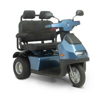 Afiscooter S3 DUO - 3 Wheel Electric Mobility Scooter - Model Shown Has Golf Tires - Scooter Comes With Dual Seat And Standard Wheels