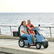 Afiscooter S4 AT DUO - 4 Wheel Electric Mobility Scooter - Scooter Comes With Golf (All Terrain) Tires
