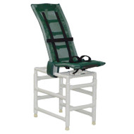 MJM Int. - Articulating Rec. Shower Chair/Double Base - 191-L-A-B-B
