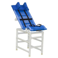 MJM Intl - LG Reclining Shower Chair w/Base Ext. And Total Lock Casters - 191-L-B-B-HB