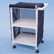 "Healthline - Linen Cart w/Cover, 24"" x 20"" Shelf, 2 Shelves - LC242W3"