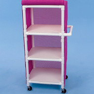 "Healthline - Linen Cart w/Cover, 24"" x 20"" Shelf, 3 Shelves - LC243W3"