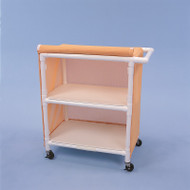 "Healthline - Linen Cart w/Cover, 32"" x 20"" Shelf, 2 Shelves - LC322W3"