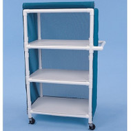 "Healthline - Linen Cart w/Cover, 32"" x 20"" Shelf, 3 Shelves - LC323W4"