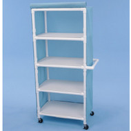 "Healthline - Linen Cart w/Cover, 32"" x 20"" Shelf, 4 Shelves - LC324W4"