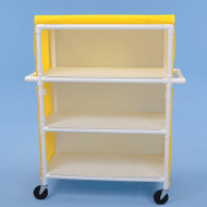 "Healthline - Linen Cart w/Cover, 42"" x 20"" Shelf, 3 Shelves - LC423W5"