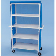"Healthline - Linen Cart w/Cover, 42"" x 20"" Shelf, 4 Shelves - LC424W5"