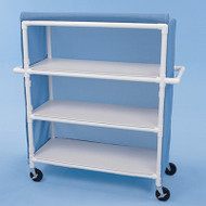 "Healthline - Linen Cart w/Cover, 48"" x 20"" Shelf, 3 Shelves - LC483W5"