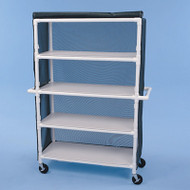 "Healthline - Linen Cart w/Cover, 48"" x 20"" Shelf, 4 Shelves - LC484W5"