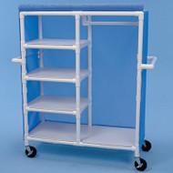 Healthline - Linen Cart w/3 Small & 1 Large Shelf - GSC484W5