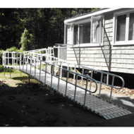 "Roll-A-Ramp - Modular Ramp System 36"", 1 Side Handrails (Looped Ends)"