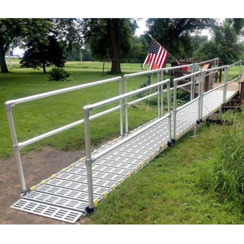 """Roll-A-Ramp - Modular Ramp System 30"""", 2 Side Handrails (Straight Ends)"""